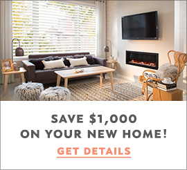 Save $1000 on your new home graphic